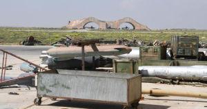 (図2) シリア政府軍のシャイラット空軍基地