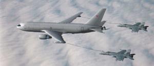 空中給油飛行の一例