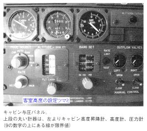 ボーイング747-200B型機の「客室与圧パネル」