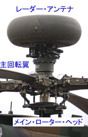 「メイン・ローター・ヘッド」 および 「レーダー・アンテナ」