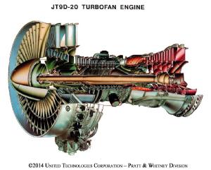 「JT9D型エンジン」 のカット図